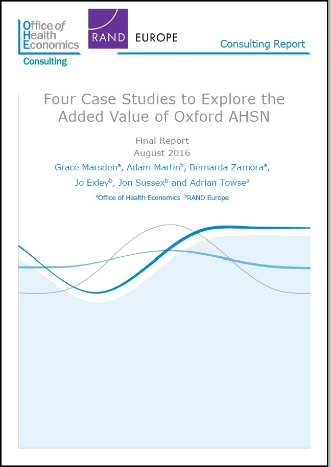 Four Case Studies To Explore The Added Value Of Oxford Ahsn | Ohe