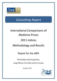 International Comparisons Of Medicines Prices: 2011 Indices