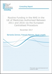 Routine Funding In The NHS In The UK Of Medicines Authorised Between 2011  And 2016 Via The European Centralised Procedure
