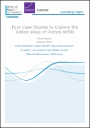 Four Case Studies To Explore The Added Value Of Oxford AHSN